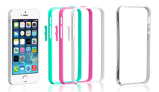 TUNEWEAR|工具いらずで最大27通り iPhone 5s/5用メタルバンパー