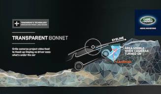 新型ディスカバリーはボンネットを通して地面が見える|Land Rover