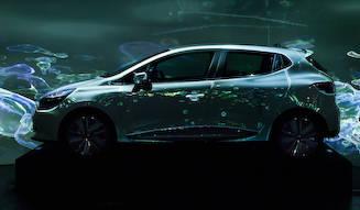 Renault ルノーの新デザインをプロジェクションマッピングで表現