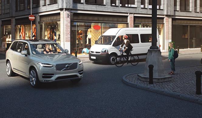 ボルボ、車両と自転車の衝突事故ゼロを目指した安全技術を開発 Volvo