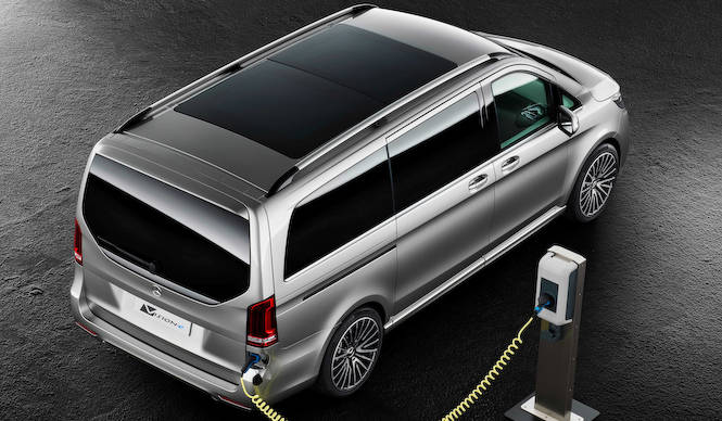 ミニバンの可能性を提案するPHVコンセプト「ヴィジョンe」 Mercedes-Benz
