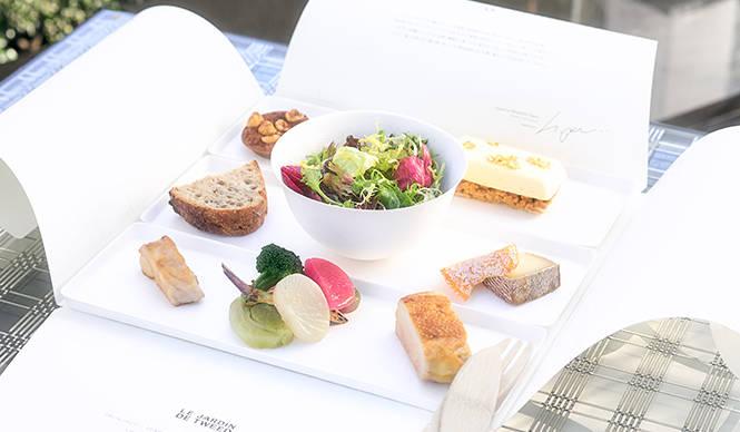 EAT|春のベージュ アラン・デュカス 東京の屋上庭園で「GINZA Box」を味わう