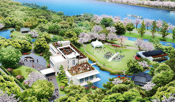 EVENT|「ザ・ガーデンオリエンタル大阪」の広大な庭園から大阪の桜の名所を臨む