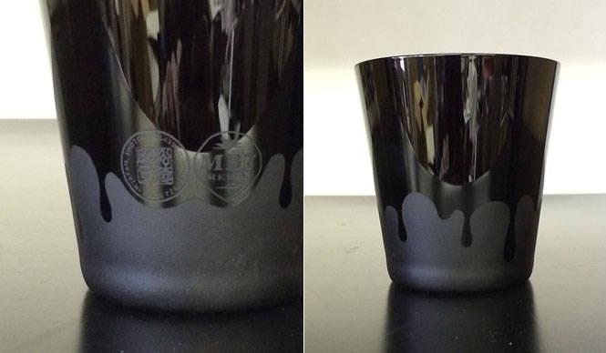 「松徳硝子×MADE BY SEVEN -REUSE-」のBLACK ROCK GLASS  STITCH JAPAN
