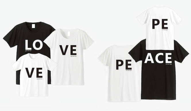 """Airconditionedが手がける""""愛と平和""""の家族Tシャツ