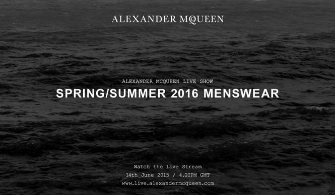 2016春夏 メンズコレクションのショーをライブストリーミング ALEXANDER McQUEEN