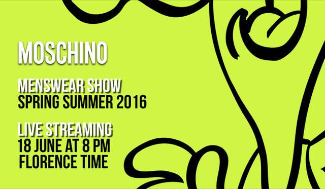 モスキーノ 2016春夏 メンズコレクションのショーをライブストリーミング|MOSCHINO