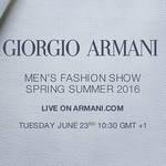 ジョルジオ アルマーニ 2016春夏 メンズコレクションのショーをライブストリーミング|GIORGIO ARMANI