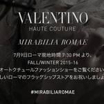 ヴァレンティノ  2015-16秋冬 オートクチュールコレクションのショーをライブストリーミング VALENTINO