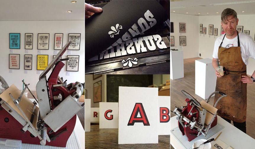 英国の活版印刷のポップアップショップを開催 journal standard Furniture