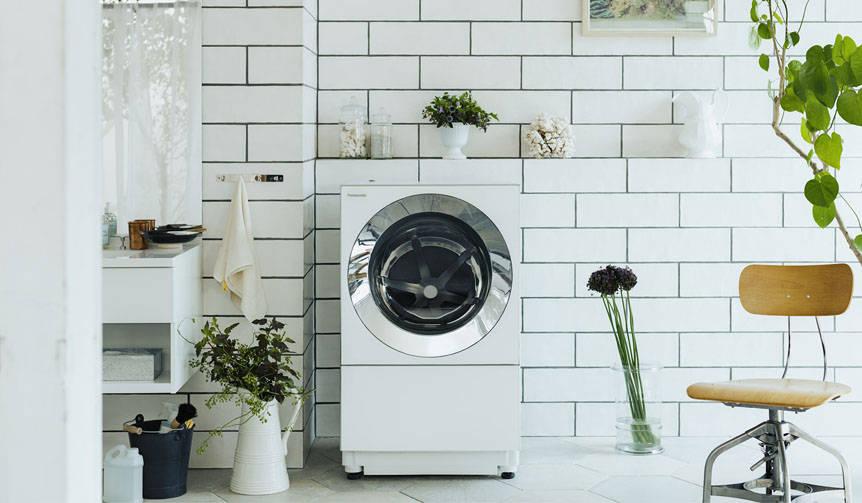 空間調和と機能性の両立する、ななめドラム洗濯機「Cuble」を発表|Panasonic