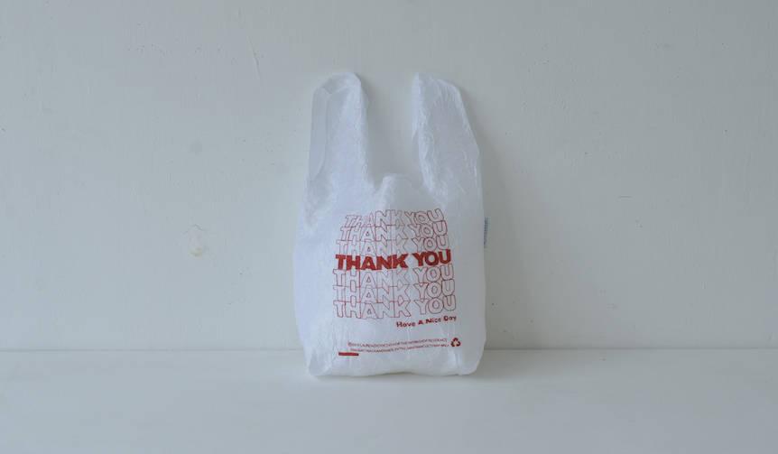 ビニール袋の廃止のメッセージを込めたトートバッグ|OPEN-EDITIONS
