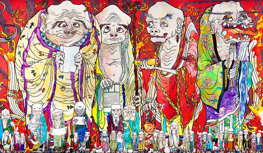 全長100メートルにわたる大作「五百羅漢図」など全作品が日本初公開|MORI ART MUSEUM