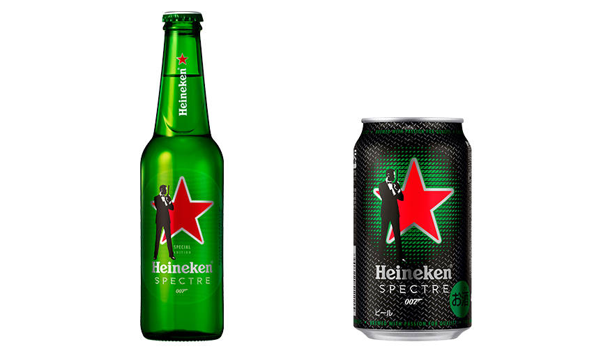 スマホをかざすと『007 スペクター』の独占映像が見られる特典も Heineken