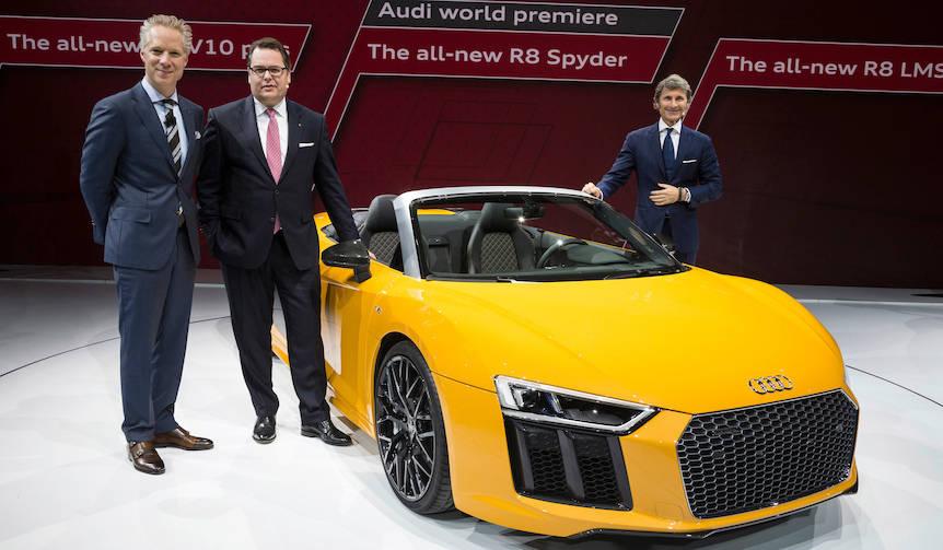 アウディ、「R8スパイダー」をワールドプレミア|Audi