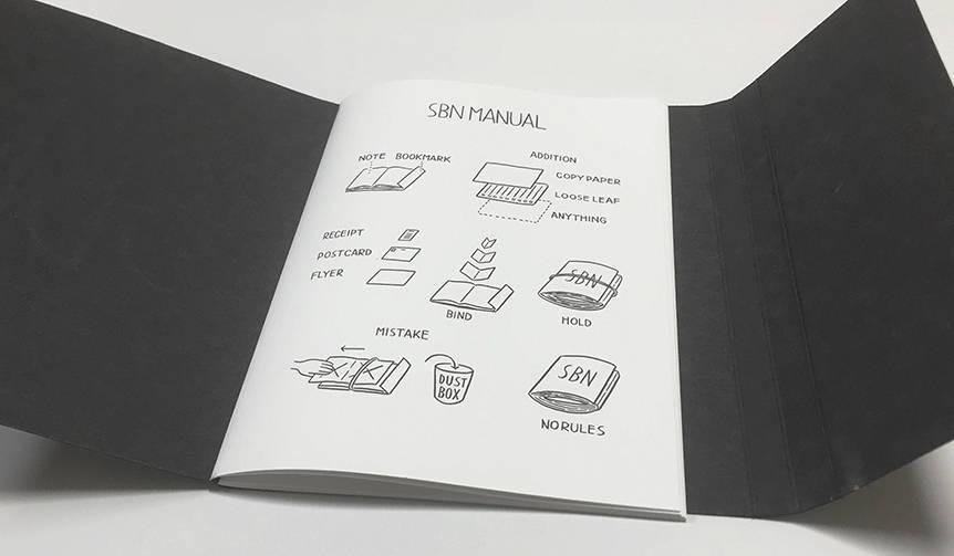 折って挟むだけ。ユーザーに使い方を委ねるバインディングノート|Noritake