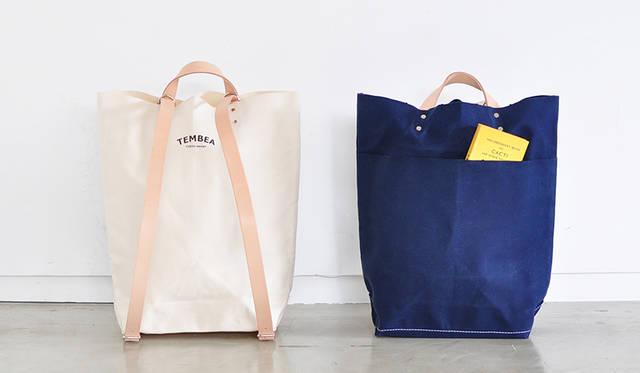 リュックと手持ちのトートで使える。人気のバッグが装い新たに2ウェイ仕様に|TEMBEA