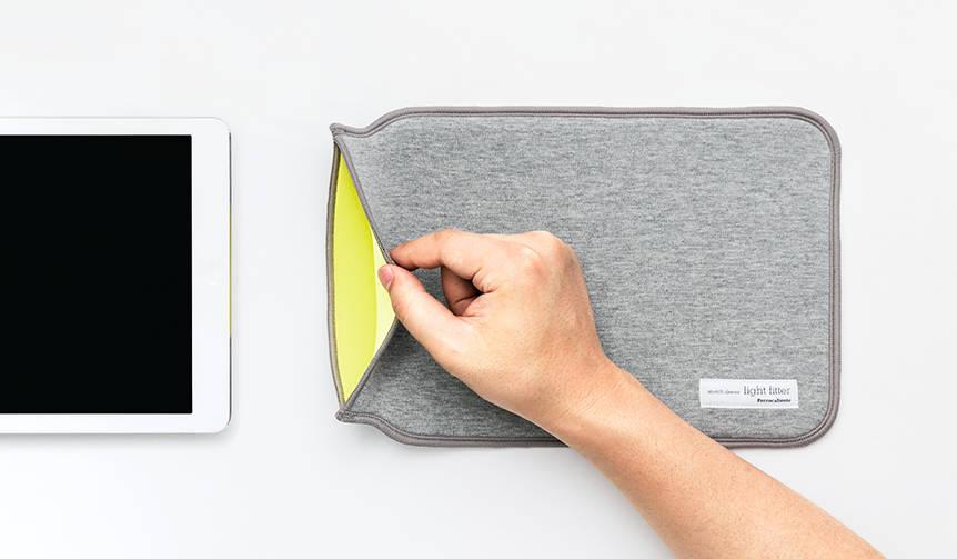 ウェットスーツの素材と独自の形状でiPadをしっかり保護|PERROCALIENTE