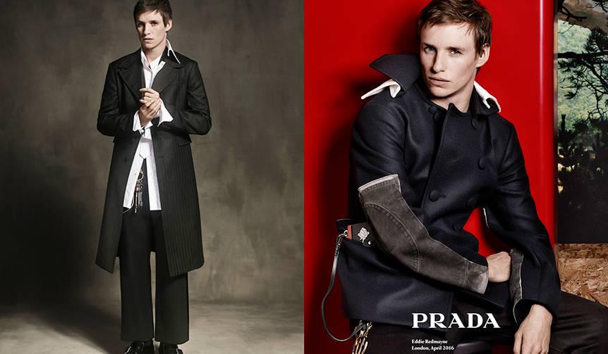 エディ・レッドメインが、プラダの2016年秋冬メンズ広告キャンペーンに登場! PRADA