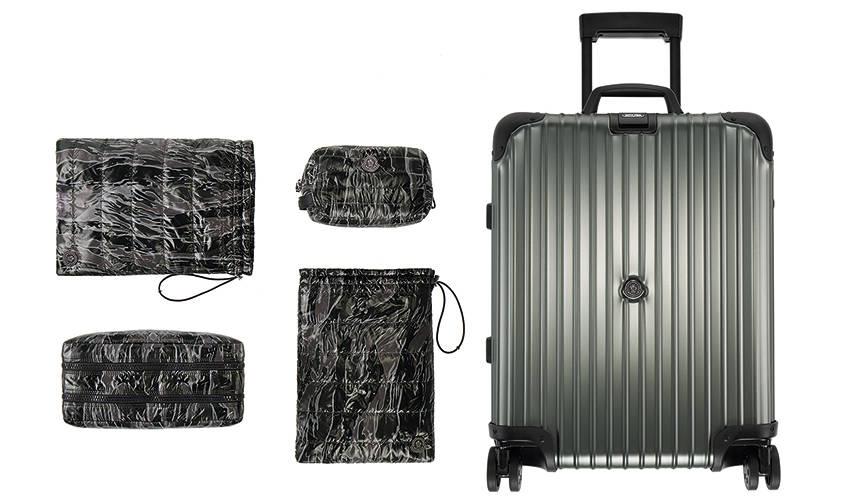 「モンクレール & リモワ」ファン歓喜のコラボスーツケースが発売! MONCLER & RIMOWA