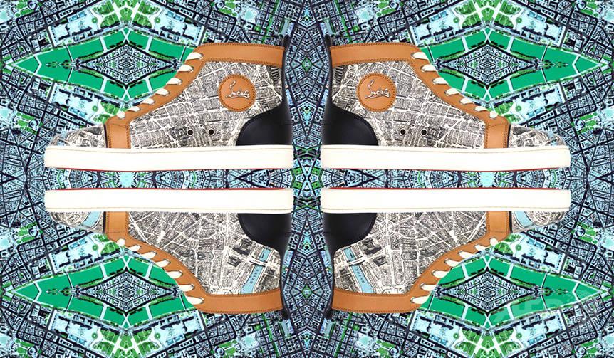 パリのマップ柄が特徴的な「Plan de Paris」コレクション登場 Christian Louboutin