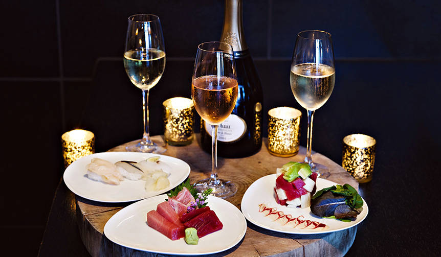 ルイナールがアンダーズ東京「寿司とシャンパンのガラ ラウンジメニュー」で提供 Ruinart