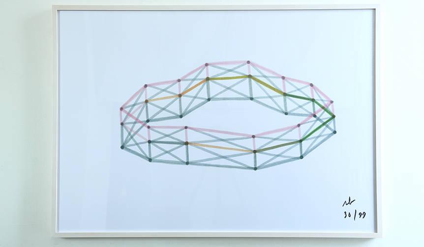ブルレック兄弟のサイン入り。エキシビション会場で販売された限定ポスター|Ronan & Erwan Bouroullec