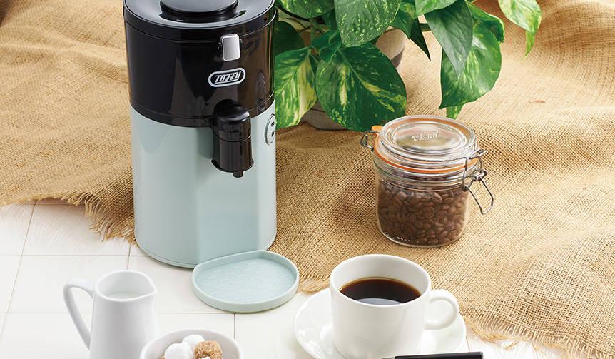 豆挽きからドリップまで一台でこなす。全自動ミル付コーヒーメーカー|Toffy