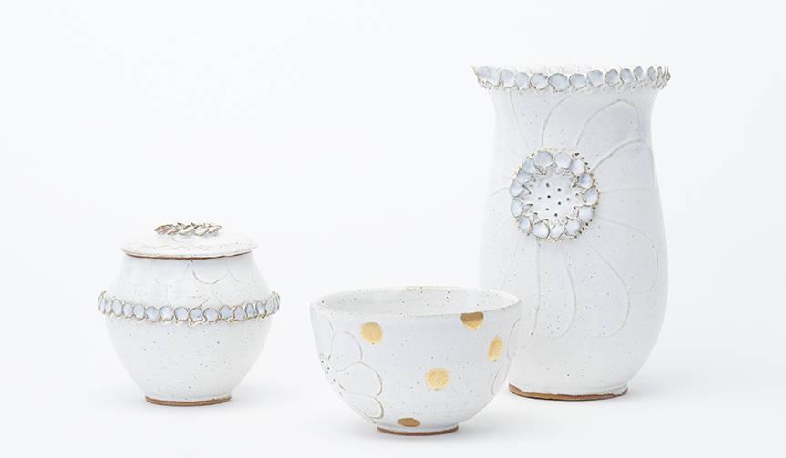 自然の美しさを陶器に表現する岡崎裕子展「PETAL 花びらの器」が開催|ART