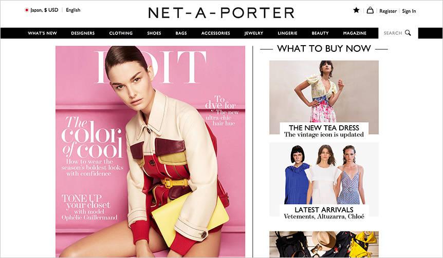 ファッション誌とショッピングを直結させたオンラインメディア NET-A-PORTER