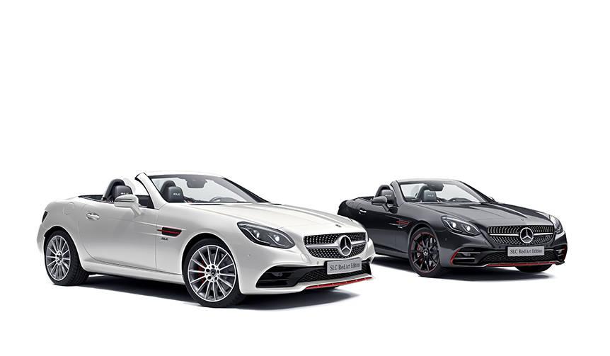 赤のアクセントが光るSLCの特別仕様車|Mercedes-Benz