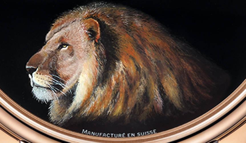 3種類の動物をモチーフにしたプティ・ウール ミニット ブラックエナメル|JAQUET DROZ