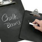 ショップの看板やPOP、メニュー表にも活用。黒板仕様のクリップボード|penco®