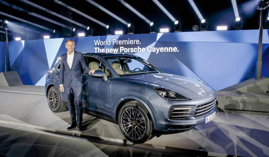 新型ポルシェ「カイエン」の発表イベントに出席|Porsche