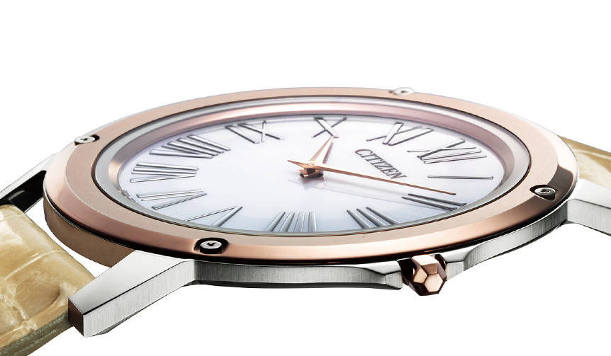 世界最薄の光発電時計に、ユニセックスなモデルが登場|CITIZEN