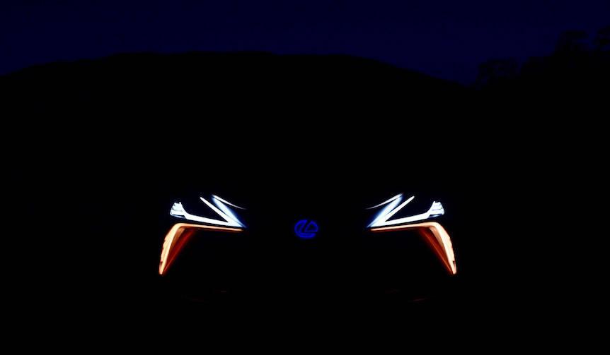 クロスオーバーコンセプトのフロントシルエットを公開|Lexus