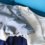 春夏にぴったりのボーダー生地。心地良いTシャツとスモールブランケット|FLISTFIA