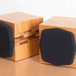 箱根寄木細工を活かした小型密閉型キューブスピーカー|Soudfort