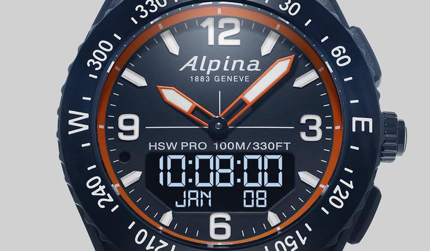 多彩なセンサーを搭載したアウトドアスマートウオッチ「アルパイナーX」|ALPINA
