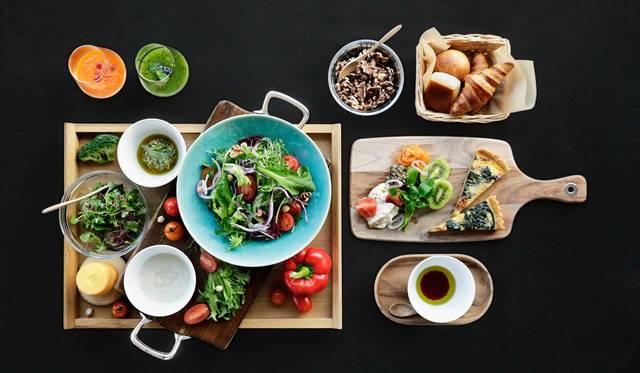 近江の発酵食「お酢」と野菜の朝食で心身をリフレッシュ|Hoshino Resorts L'Hotel de Hiei