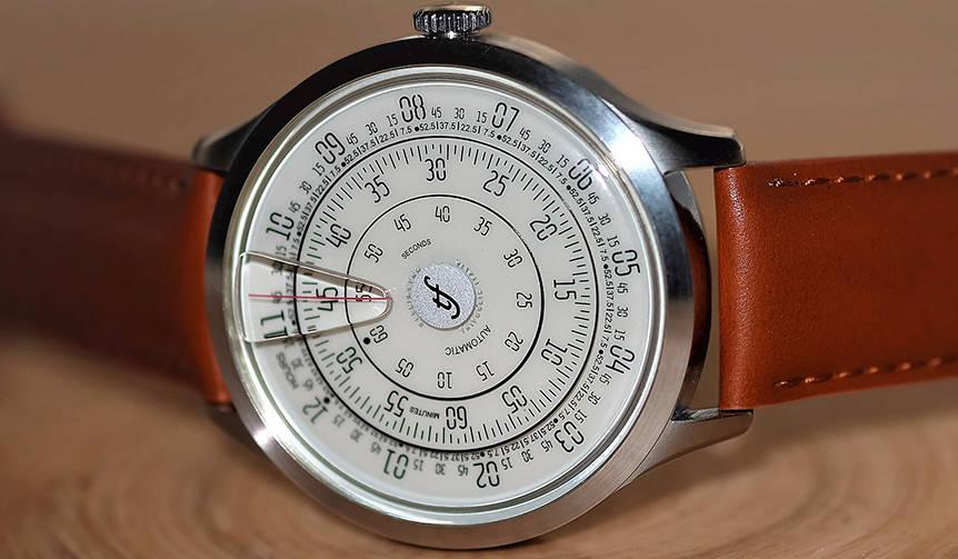 文字盤が回転して時を刻むイタリアの機械式腕時計「ミリメトロ」|Trifoglio Italia