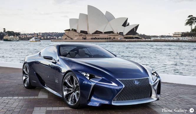 ハイブリッドスポーツLF-LC Blueが登場 Lexus
