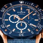 テーマカラーのブルーダイアル、ダイヤモンドで腕元をエレガントに彩る限定モデル|EDOX