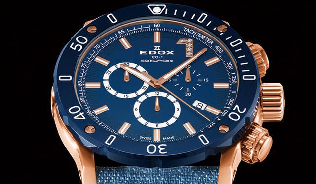 テーマカラーのブルーダイアル、ダイヤモンドで腕元をエレガントに彩る限定モデル|EDOX ギャラリー