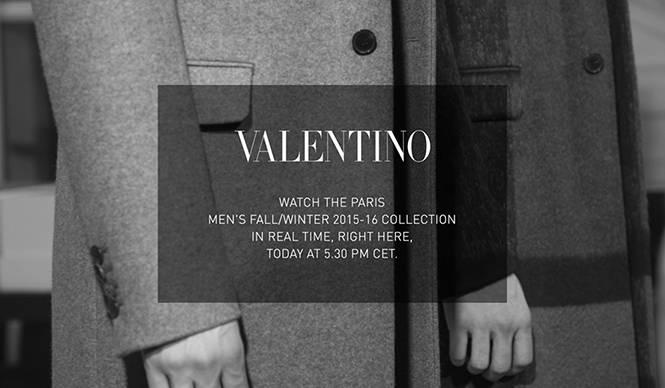 ヴァレンティノ 2015-16秋冬 メンズのショーをライブストリーミング|VALENTINO