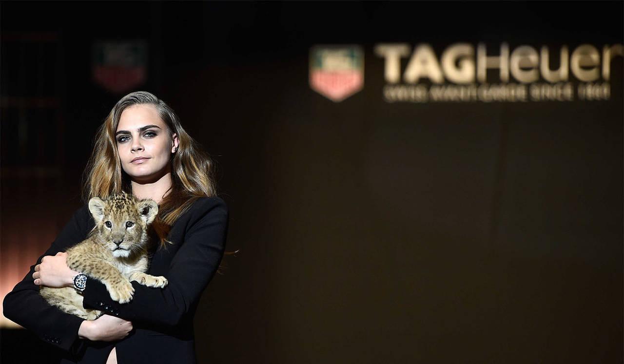 カーラ・デルヴィーニュが新アンバサダーに TAG Heuer