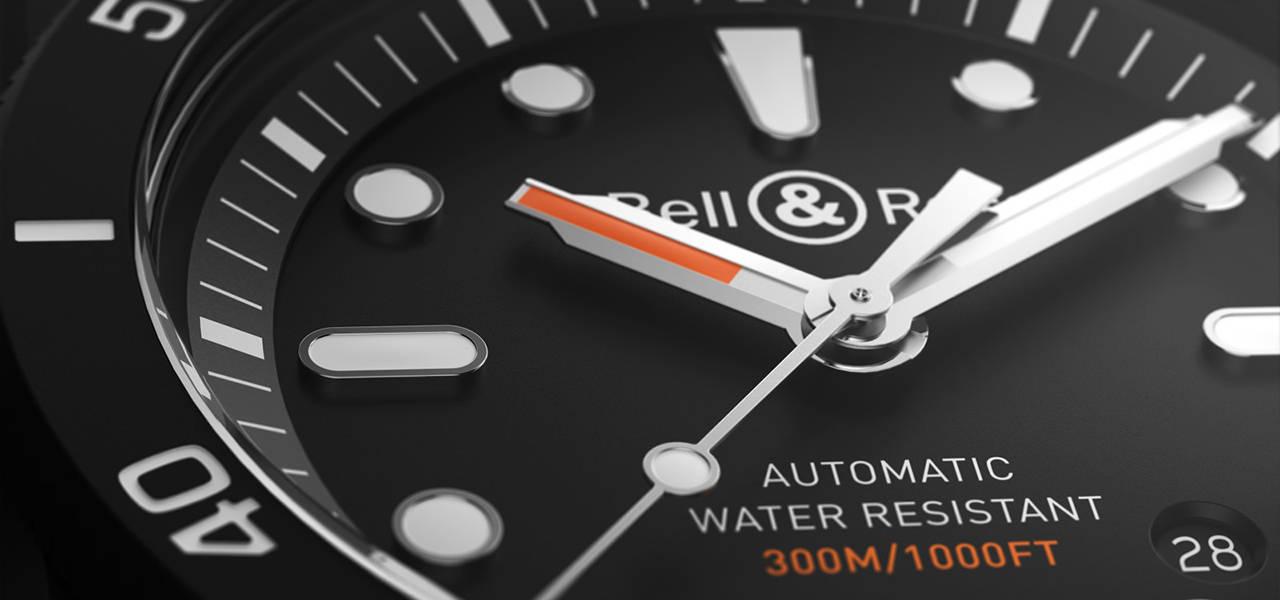 ベル&ロス自社開発のブラックハイテクセラミック製ダイバーズウオッチ Bell & Ross
