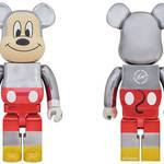 BE@RBRICK fragmentdesign MICKEY MOUSE COLOR Ver. 100% & 400%/1000% |MEDICOM TOY