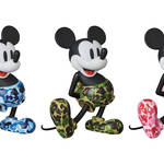 VCD BAPE(R) MICKEY MOUSE, BE@RBRICK BAPE(R) MICKEY MOUSE 100% & 400% / 1000%|MEDICOM TOY