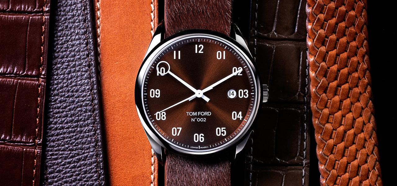 ブランド初の機械式時計にシックな新色を追加 TOM FORD